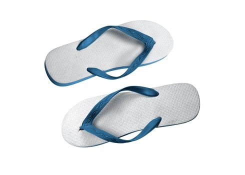 a pair of flip-flops isolated on a white