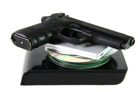 database with pistol