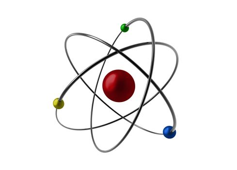illustrated of an atom