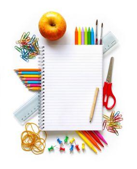 Photo showing school objects