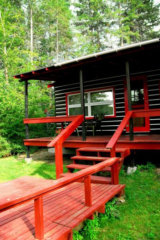 Log cabin woods