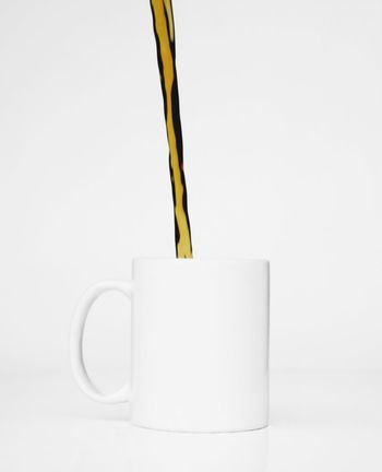 White Cup Coffee Pour