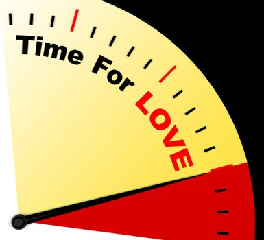 Time For Love Message Means Romance And Feelings