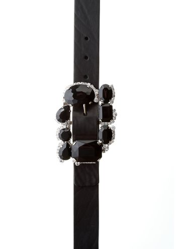 Close-up of studded modern fashionable belt