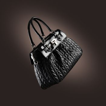 ladies handbag on  dark background