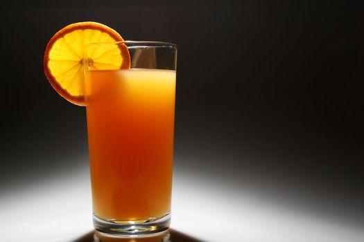 backlit orange Juice