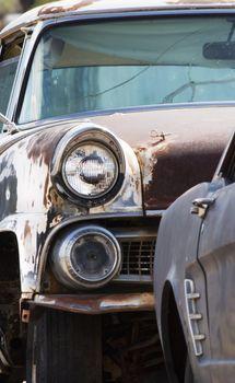 Headlight on an Abandoned Car