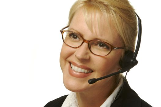 A beautiful friendly secretary/telephone operator.