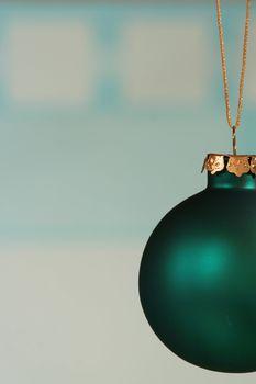 Teal green ornament