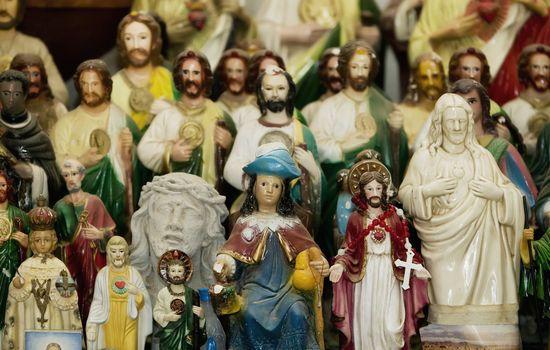 Saints and Jesus Christ on an Altar