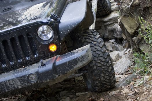 Off Road Vehicle Front End Driving