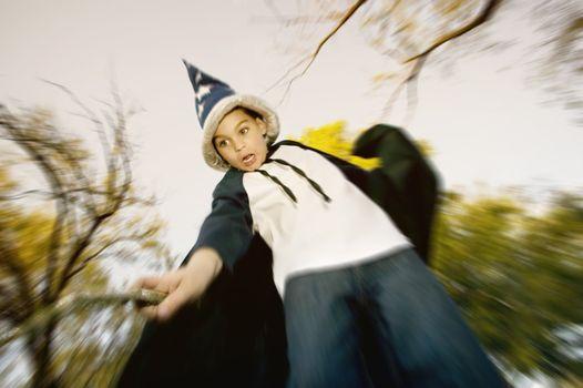 Wizard Boy with a Stick Wand