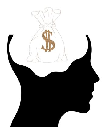 Man and thinking, and money