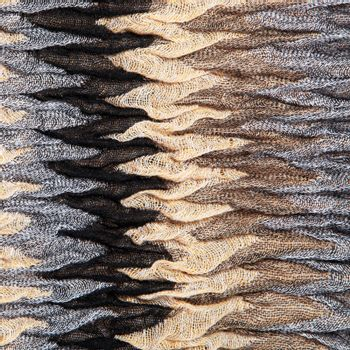 Luxurious knit textured ruched fabric