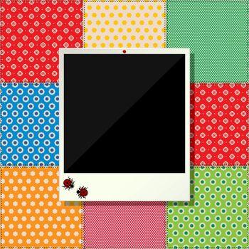 Digital scrapbooking photo frame