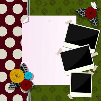 Decorative scrapbook composition