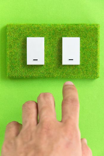 turn off the light,earth hour concept