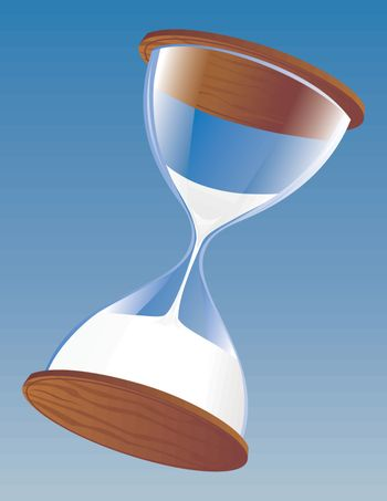 Hourglass counting time left
