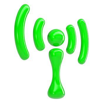 Green sign wi-fi