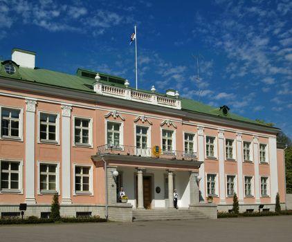 Presidential palace in park Kadriorg. Tallinn. Estonia.