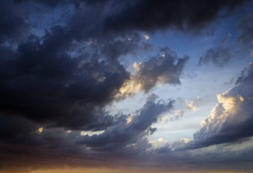 The evening storm sky. background