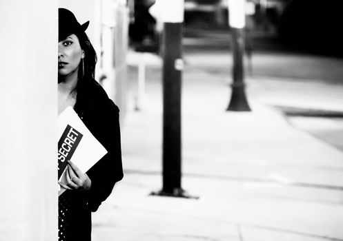 Woman Spy with Document