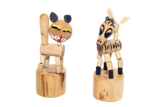 Ancient wooden toys