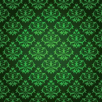 Elegant green background made of floral decorative pattern