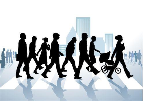 pedestrian in the city