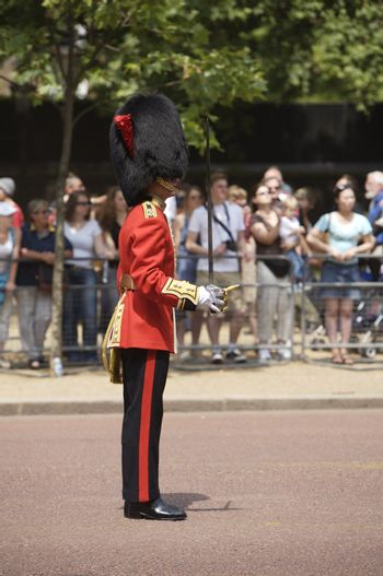 The Trooping of the Colors icon the Queen's Birthday one of London's most popular annual pageants