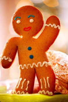 Gingerbread Man. Christmas Holidays