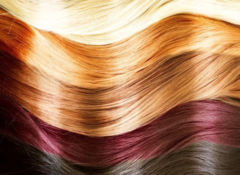 Hair Colors Palette. Hair Texture