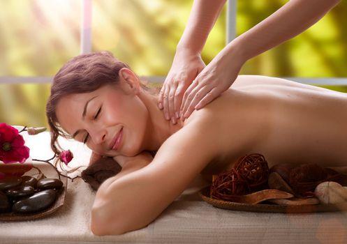 Massage. Spa Salon