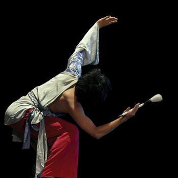 CHENGDU - DEC 12:  Chinese dancer performs modern dance onstage at JINCHENG theater.Dec 12,2007 in Chengdu, China. Choreographer: Hu Yan, Cast: Wu Shuai