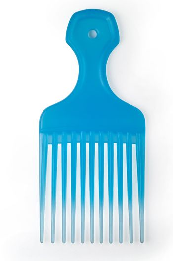 Translucent comb isolated with clipping path