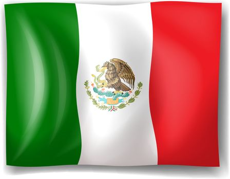 Illustration of the flag of Mexico on a white background