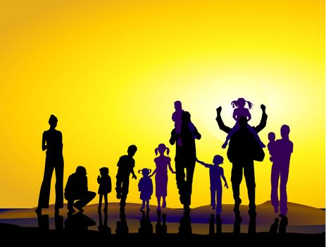 families and sundown