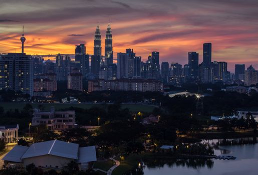 KL Skyline at dusk