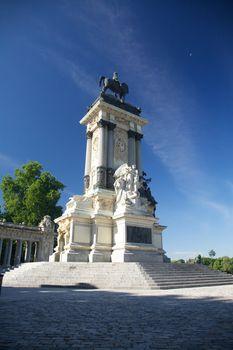 El Retiro monument in Madrid