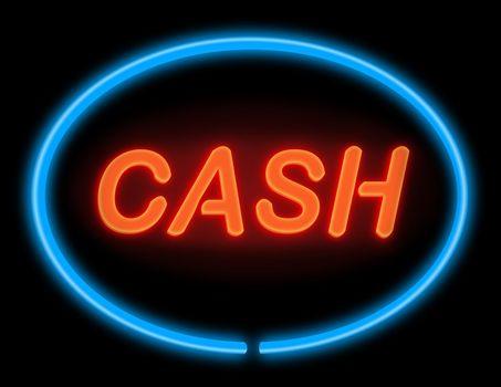 Easy cash concept.