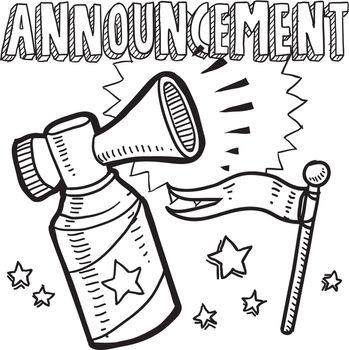Announcement air horn sketch