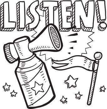 Listen air horn sketch