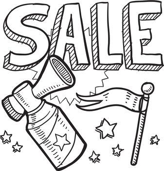 Sale air horn sketch