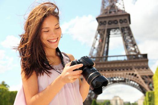 Paris tourist with camera