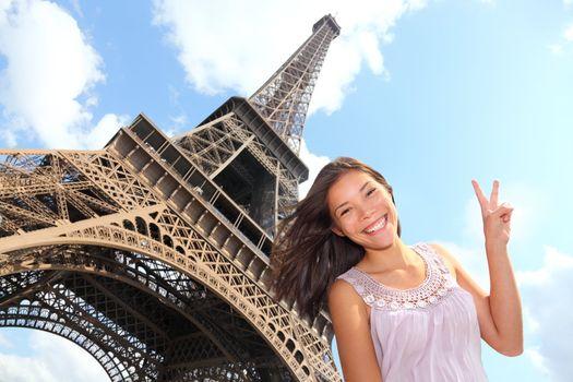Eiffel Tower tourist