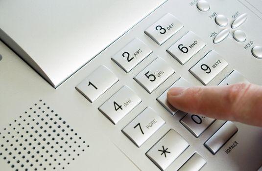 finger with keypad