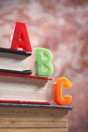 stock image of the abc on book