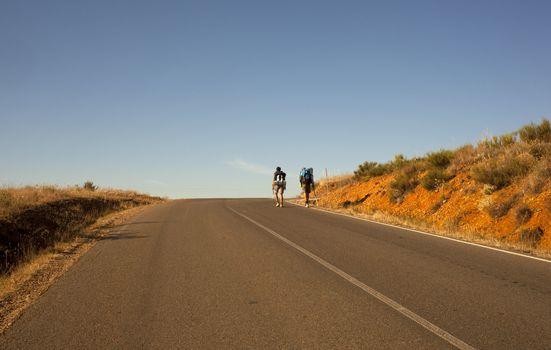 Pilgrims along the Way of St. James - Spain
