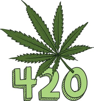 420 marijuana sketch