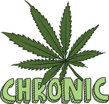 Marijuana chronic sketch